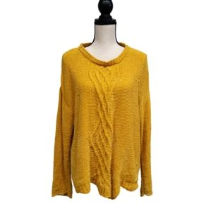 Absolutely Creative Worldwide Knit Sweater Yellow